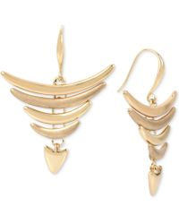 Robert Lee Morris | Gold-tone Layered Curved Bar Drop Earrings | Lyst