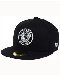 KTZ - Chicago Blackhawks Black Dub 59fifty Cap - Lyst