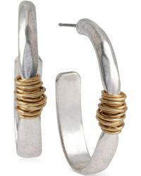 Robert Lee Morris - Medium Two-tone Wire-wrapped Oval Hoop Earrings - Lyst