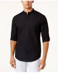 INC International Concepts - Men's Band-collar Utility Shirt - Lyst