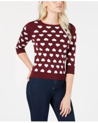 Maison Jules - Heart Sweater, Created For Macy's - Lyst
