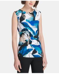 8967affcd1557 Lyst - Under Armour Studiolux T-back Tank Top in Black
