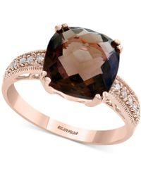 Effy Collection - Final Call By Effy® Smoky Quartz (3-5/8 Ct. T.w.) & Diamond Accent Ring In 14k Rose Gold - Lyst