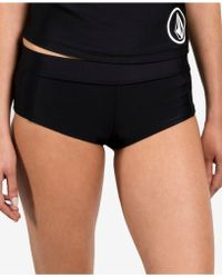 Volcom - Solid Cheeky Boyshort - Lyst