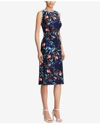 American Living - Floral-print Midi Dress - Lyst