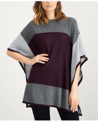 Calvin Klein - Colorblocked Poncho Sweater - Lyst