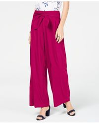 INC International Concepts I.n.c. Wide-leg Paper Bag Tie Waist Pants, Created For Macy's