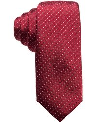 Alfani - Pindot Slim Silk Tie, Created For Macy's - Lyst