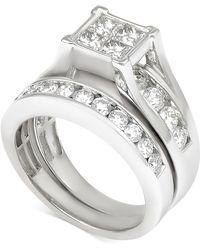 Macy's - Diamond Quad Bridal Set (2 Ct. T.w.) In 14k White Gold - Lyst