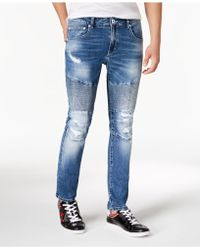 INC International Concepts - Destructed Moto Skinny Jeans, Created For Macy's - Lyst