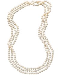 "Macy's - 100"" Cultured Freshwater Pearl Endless Strand Necklace (7-8mm) - Lyst"
