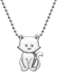 """Alex Woo - Kitten 16"""" Pendant Necklace In Sterling Silver - Lyst"""
