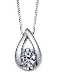 Sirena - Diamond Pendant Necklace (1/2 Ct. T.w.) In 14k White Gold - Lyst