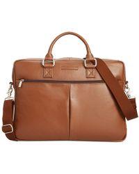 Perry Ellis - Bag, Zip-top Leather Briefcase - Lyst