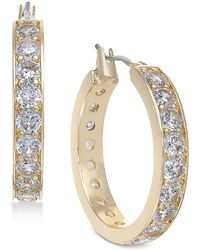 Charter Club - Gold-tone Crystal Hoop Earrings, Created For Macy's - Lyst