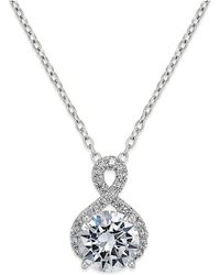 Giani Bernini - Cubic Zirconia Infinity Pendant Necklace In 18k Gold-plated Sterling Silver - Lyst