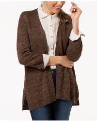 Karen Scott - Open-front Pointelle Cardigan, Created For Macy's - Lyst
