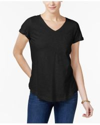 Style & Co. - Cotton Pocketed T-shirt - Lyst