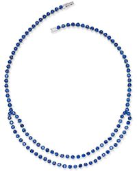 Macy's - Sapphire (49-9/10 Ct. T.w.) & White Sapphire Accent Collar Necklace In Sterling Silver - Lyst