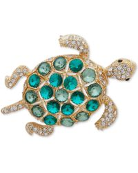 Anne Klein - Gold-tone Multi-stone Turtle Pin, Created For Macy's - Lyst