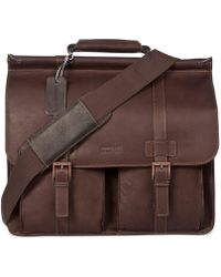 "Kenneth Cole Reaction - ""columbia"" Double Gusset Dowel Rod Portfolio/computer Case - Lyst"