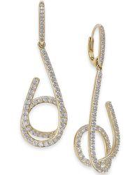 Danori - Pavé Swirl Drop Earrings, Created For Macy's - Lyst