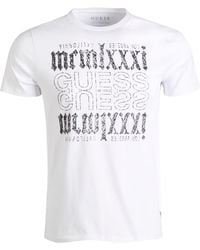 058db28ca1d9 Lyst - Guess Men's Graphic-print T-shirt in White for Men