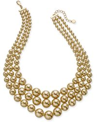 Charter Club - Imitation Pearl Three-row Collar Necklace, Created For Macy's - Lyst