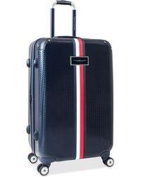 """Tommy Hilfiger - Basketweave Hardside 25"""" Spinner Suitcase - Lyst"""