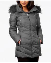 Marc New York - Faux-fur-trim Puffer Coat - Lyst
