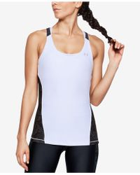 Under Armour - Heatgear® Cutout Racerback Tank Top - Lyst