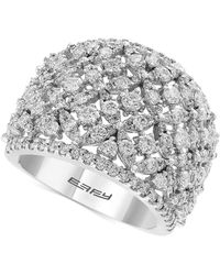 Effy Collection - Effy® Diamond Openwork Ring (2-1/10 Ct. T.w.) Ring In 14k White Gold - Lyst