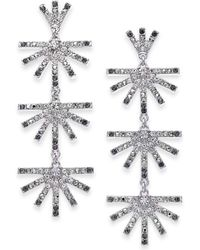 INC International Concepts - I.n.c. Silver-tone Ombré Crystal Sunburst Linear Drop Earrings, Created For Macy's - Lyst