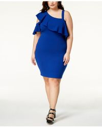 Soprano - Trendy Plus Size One-shoulder Bodycon Dress - Lyst