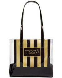 Macy's - Stripe & Clear Tote, Created For - Lyst
