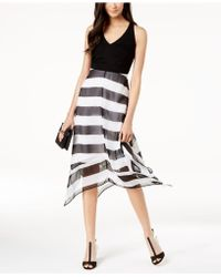INC International Concepts - I.n.c. Petite Striped V-neck Midi Dress, Created For Macy's - Lyst