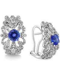 Effy Collection - Tanzanite (1-3/4 Ct. T.w.) And Diamond (5/8 Ct. T.w.) Earrings In 14k White Gold - Lyst