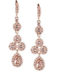 Givenchy - Rose Gold-tone Swarovski Element Linear Drop Earrings - Lyst
