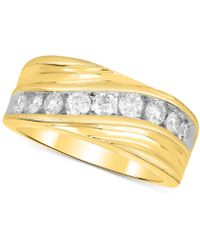 Macy's - Diamond Swirl Band (1 Ct. T.w.) In 10k Gold - Lyst