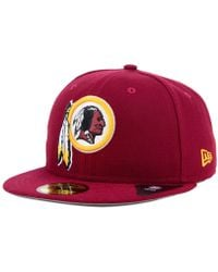 new style 0cf94 cb135 KTZ Washington Redskins State Flective Redux 59fifty Cap in Black for Men -  Lyst