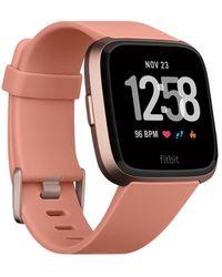 Fitbit - Versatm Peach Band Touchscreen Smart Watch 39mm - Lyst