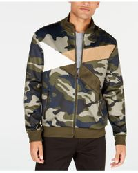 Sean John - Fractured Colorblocked Camouflage Track Jacket - Lyst
