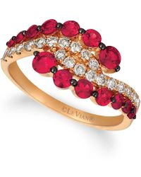 Le Vian - ® Milestone Passion Rubytm (1 1/8 Cttw) And Nude Diamondstm (3/8 Cttw) Ring Set In 14k Rose Gold - Lyst