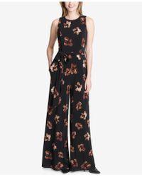 Tommy Hilfiger - Floral-print Jersey Jumpsuit - Lyst