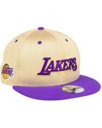 best service c9300 4dfec KTZ - Los Angeles Lakers Champagne 9fifty Snapback Cap - Lyst
