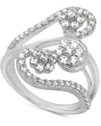 Wrapped in Love - Diamond Abstract Statement Ring (1 Ct. T.w.) In 14k White Gold - Lyst