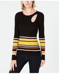 INC International Concepts - I.n.c. Striped Teardrop-cutout Sweater, Created For Macy's - Lyst