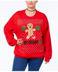 Hybrid - Trendy Plus Size Oh Snap! Graphic-print Sweatshirt - Lyst