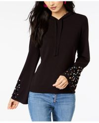 INC International Concepts - I.n.c. Petite Embellished Bell-sleeve Hoodie, Created For Macy's - Lyst