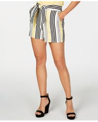 INC International Concepts - I.n.c. Striped Tie-front Shorts, Created For Macy's - Lyst